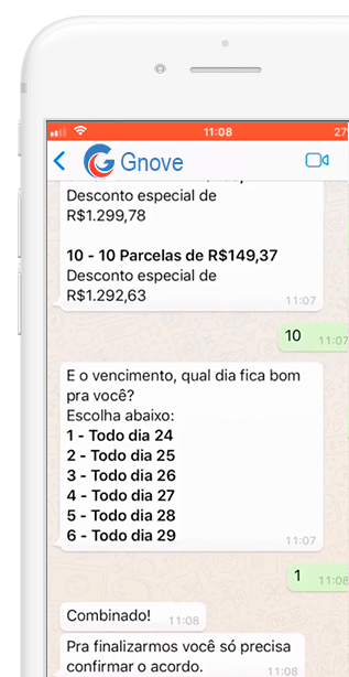 autoatendimento whatsapp